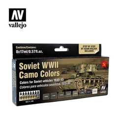 Vallejo Paint Set Soviet WWII Camo Colors