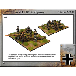 German 15cm sFH18 Guns & Crew