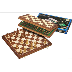 De Luxe Schack/Chess Set, medium, field 40 mm