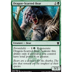 Magic löskort: Dragons of Tarkir: Dragon-Scarred Bear