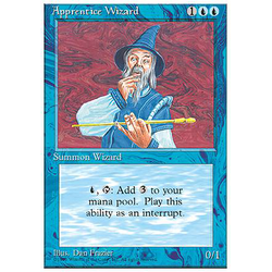 Magic löskort: 4th Edition: Apprentice Wizard