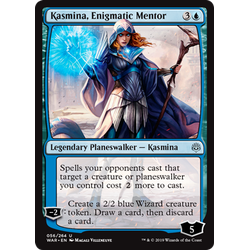 Magic löskort: War of the Spark: Kasmina, Enigmatic Mentor