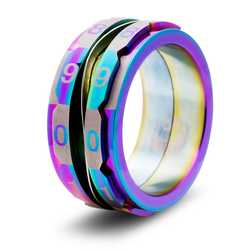 Dice Ring: The Life Counter Ring (Size 7,5, rainbow)
