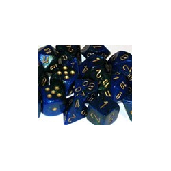 Gemini: Blue-Green w/gold (12-die set)