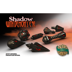 PolyHero Dice: Wizard 7-Dice Set Shadow with Demon's Eye