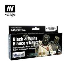 Vallejo Paint Set Black & White