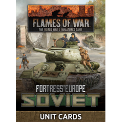 Fortress Europe: Soviet Unit Cards (Late War)