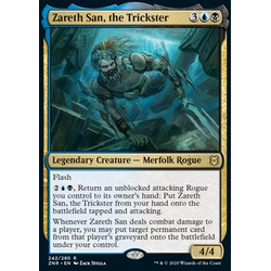 Magic löskort: Zendikar Rising: Zareth San, the Trickster