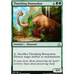 Magic löskort: Rivals of Ixalan: Thrashing Brontodon