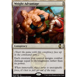 Magic löskort: Conspiracy: Take the Crown: Weight Advantage