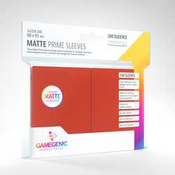 GameGenic Matte Prime Sleeves Red (100)