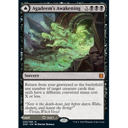 Magic löskort: Zendikar Rising: Agadeem's Awakening // Agadeem, the Undercrypt