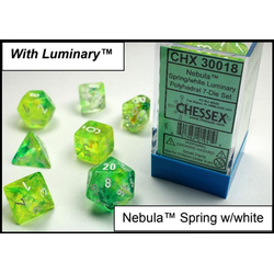 Lab Dice Nebula Spring/white Luminary 7-Die Set