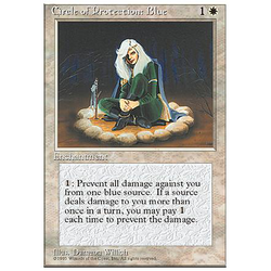 Magic löskort: 4th Edition: Circle of Protection: Blue