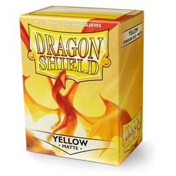 Dragon Shield Sleeves - Standard Matte Yellow (100 ct. in box)