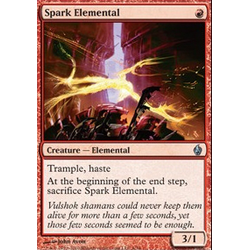 Magic Löskort: Premium Deck - Fire and Lightning: Spark Elemental (Foil)