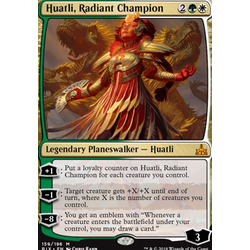 Magic löskort: Rivals of Ixalan: Huatli, Radiant Champion