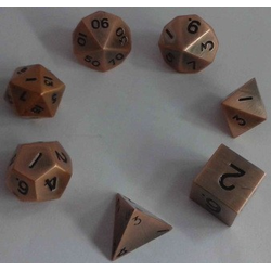 Metallic Dice: Copper Antique (Solid Metall)