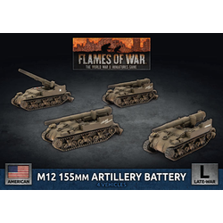 American M12 155mm Artillery Battery