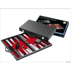 Backgammon red, large, synthetic leather