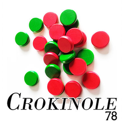 Ferti Crokinole Discs red & green (24 st)