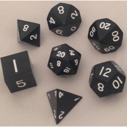 Metallic Dice: Black (Solid Metall)