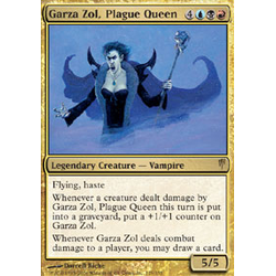 Magic löskort: Coldsnap: Garza Zol, Plague Queen