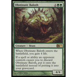 Magic löskort: Core Set 2011 (M11): Obstinate Baloth