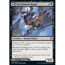 Magic löskort: Zendikar Rising: Blackbloom Rogue // Blackbloom Bog
