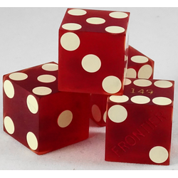 Cancelled Casino Dice Sanded Red, 20mm