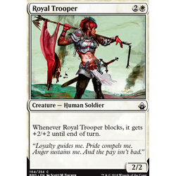 Magic löskort: Battlebond: Royal Trooper