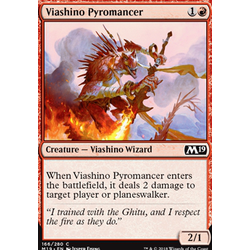 Magic löskort: Core Set 2019: Viashino Pyromancer