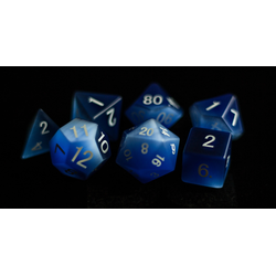 Metallic Dice: Cat's Eye Frosted Blue (7-die set)