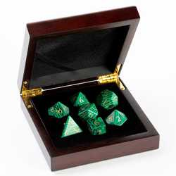 Stone Dice: Malachite 7-die Set