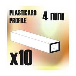 ABS Plasticard - Profile SQUARED TUBE 4mm