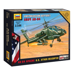 US AH-64 Apache Attach Helicopter 1/144