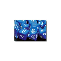 Opaque: Blue/white (36-dice set)