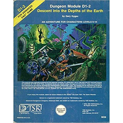 D&D: D1-2, Descent into the Depths of the Earth (1981)