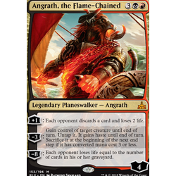 Magic löskort: Rivals of Ixalan: Angrath, the Flame-Chained