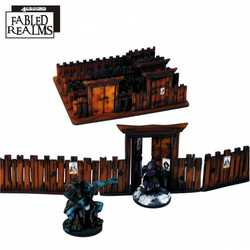 Fabled Realms Village Fencing with Gates (Painted)