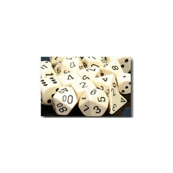 Opaque: Ivory/black (36-dice set)