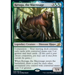 Magic löskort: Ikoria: Lair of Behemoths: Keruga, the Macrosage (Foil)