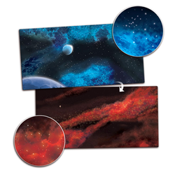 Double sided Game Mat Frozen Planet / Crimson Gas Cloud 6x3 ~ 180x90cm (Mousepad)