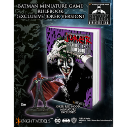 Batman Miniature Game Rulebook (Joker Cover + Red Hood Promo)