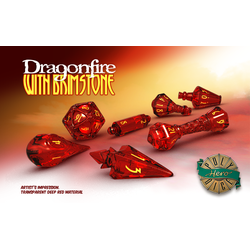 PolyHero Dice: 1d20 Orb - Dragonfire with Brimstone
