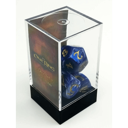 The One Ring: Blue and White Dice Set