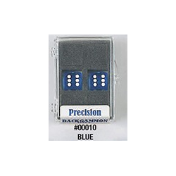 Precision Backgammon Dice (Blue, Transparent)