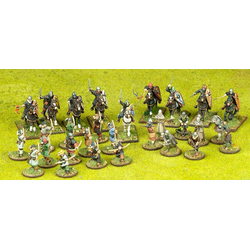Saga Norman Starter Warband - 9 Mounted & 20 foot figures