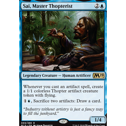 Magic löskort: Core Set 2019: Sai, Master Thopterist