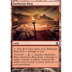 Magic Löskort: Premium Deck - Fire and Lightning: Barbarian Ring (Foil)